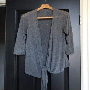 Lululemon Grey front tie top